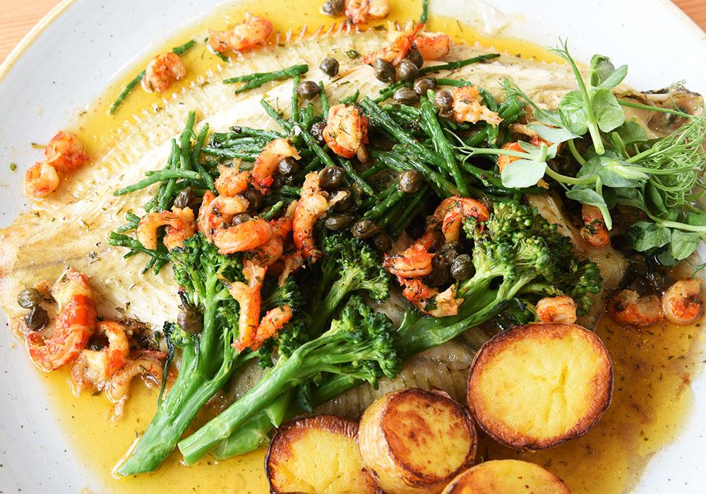 Fish dish at the Boardwalk Restaurant