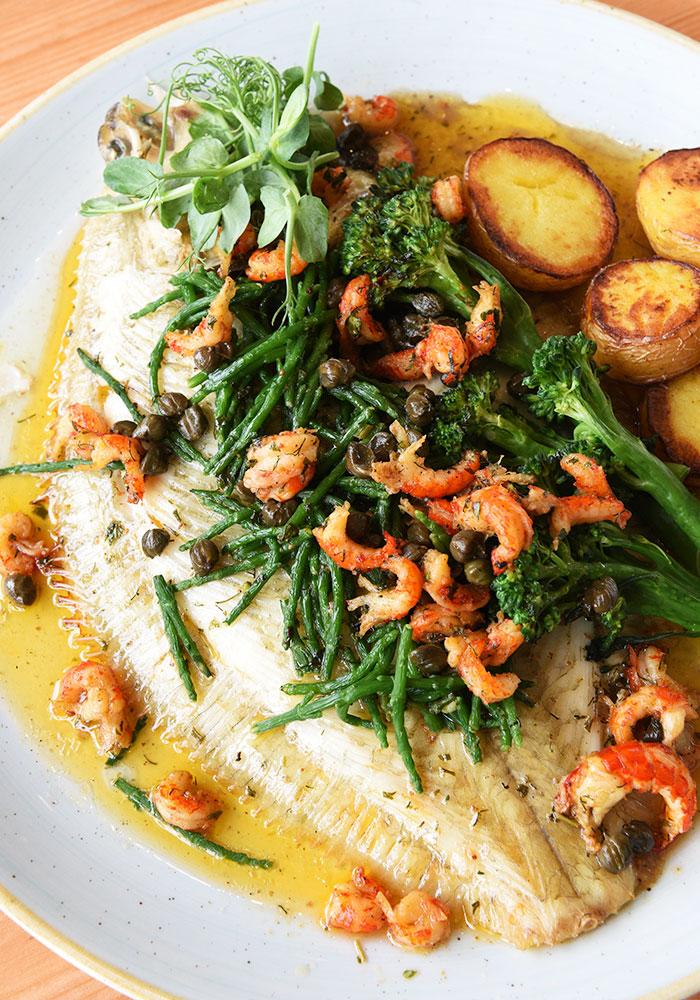 Fresh fish platter from the boardwalk