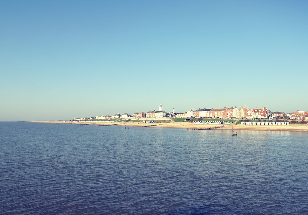 View of Southwold from the end of the Pier