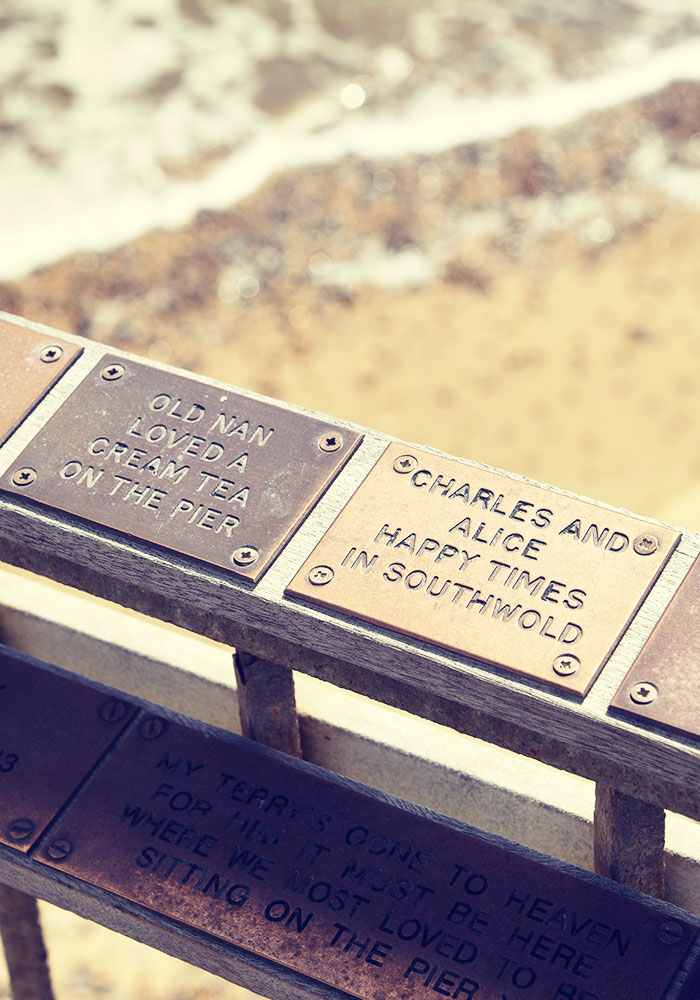 A plaque on the Pier is a perfect memento