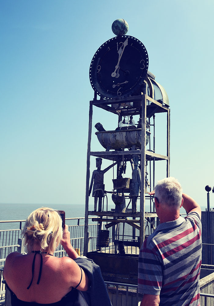 The Water Clock under blue skies