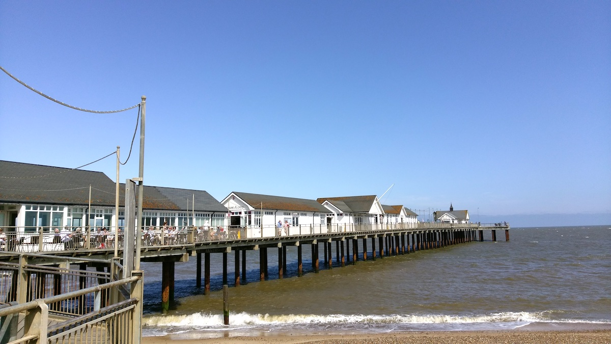 The Pier under blue skies