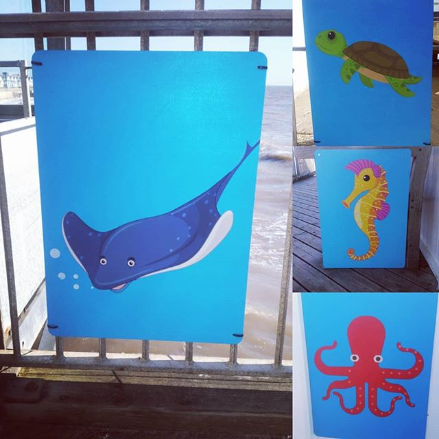 Come and find our sea creatures in our new trail during half term and your little ones get a treat at the end! 🐠 🐳 🐙 🐢  #halfterm #southwold #southwoldpier #daysoutwithkids #seacreaturetrail #kidstrail