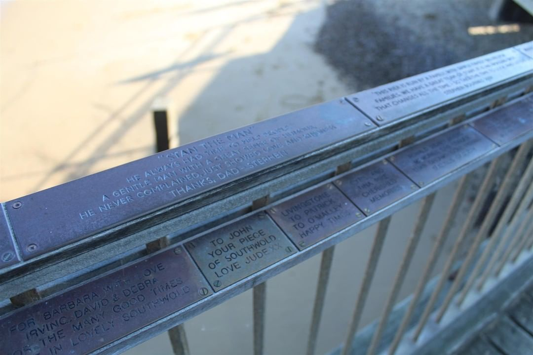 The plaques make a great gift and provide a wonderful surprise or memento of your visit. #suffolk #southwoldpier #southwold