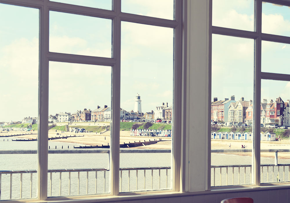 The view of Southwold from the Boardwalk