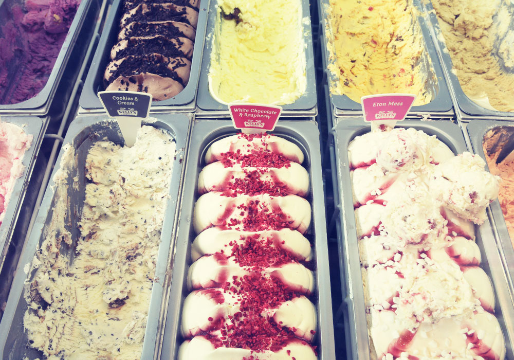 Kelly's Ice Cream selection