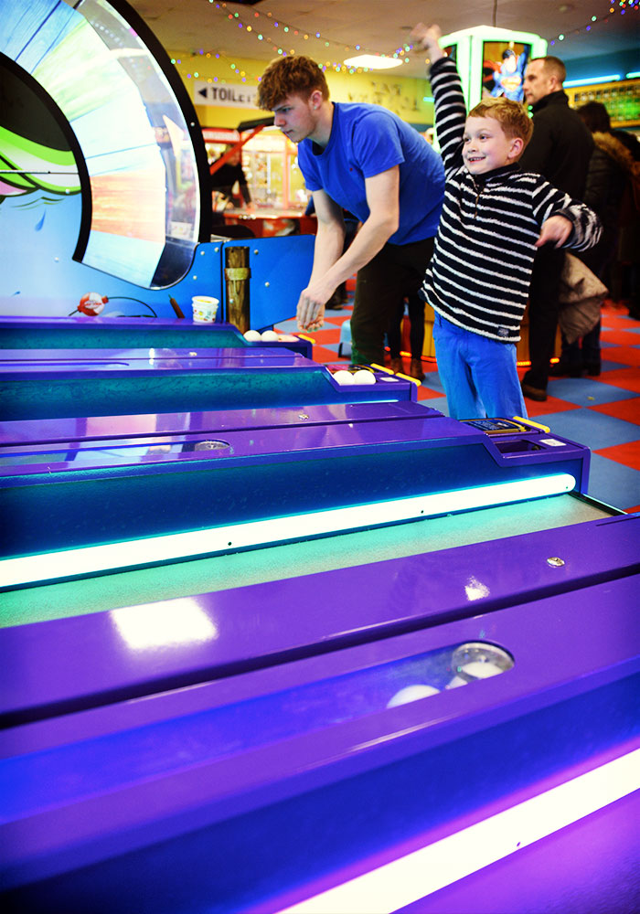 Bowling game in the Arcade at Southwold PIer