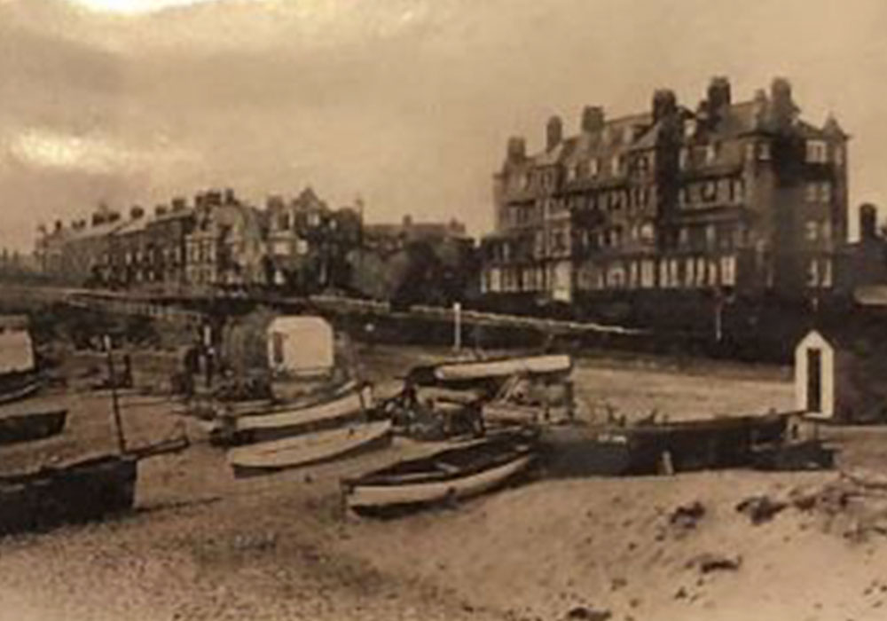 Sepia photo of Southwold