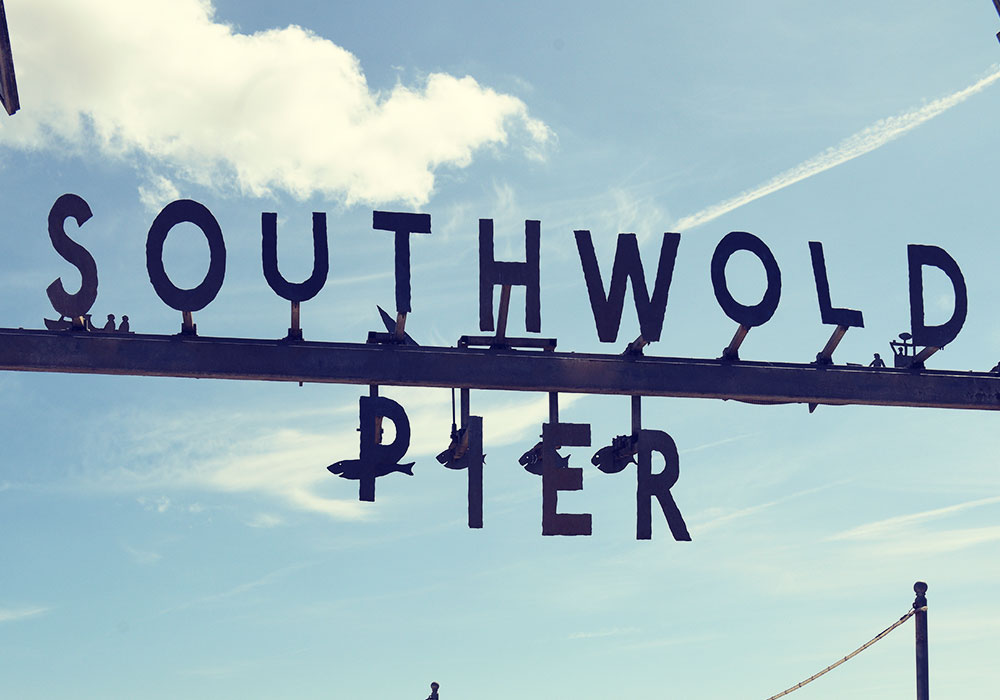 The Southwold Pier sign