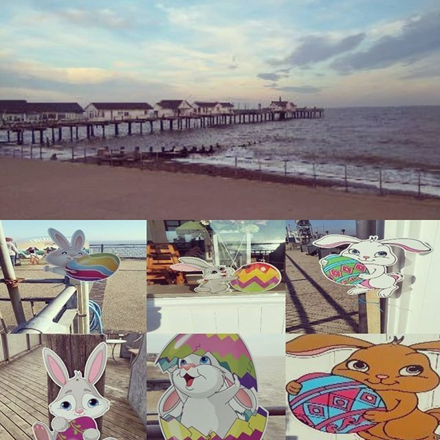 Hop to the pier this Easter break and complete our Bunny Trail for a special treat 🐰  #southwold #bunnytrail #easterholidays #suffolk